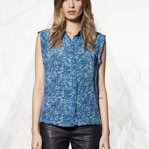 Winter Kate pure Silk Splatter Button up B…